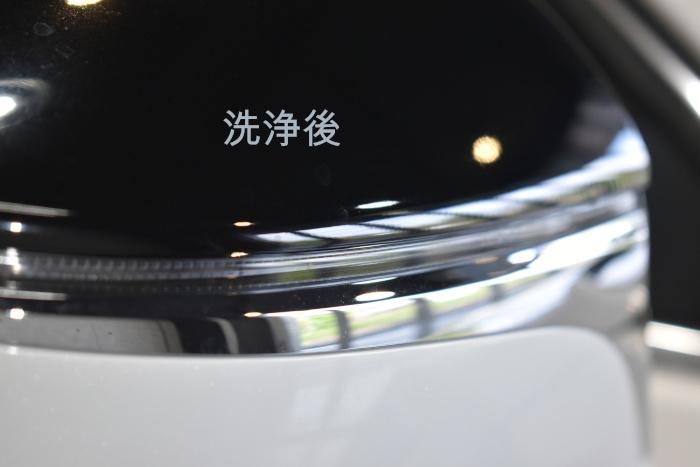 レクサスUX-ドアミラー洗浄後-2
